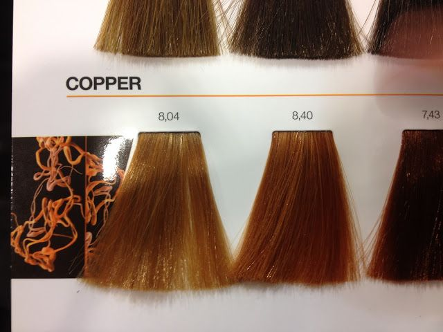 Loreal Inoa Copper Colour Chart Hair Pinterest