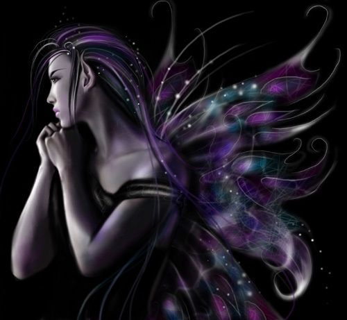 purple fantasy fairy angel picture and wallpaper