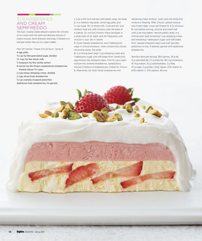 strawberries and cream semifreddo from hyvee