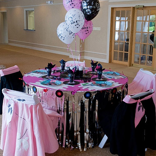 Rock n roll theme quincea era ideas pinterest - Rock and roll theme party decorations ...