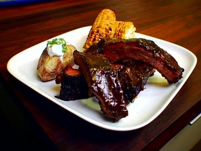 Tomatillo Glazed Baby Back Ribs from FoodNetwork.com