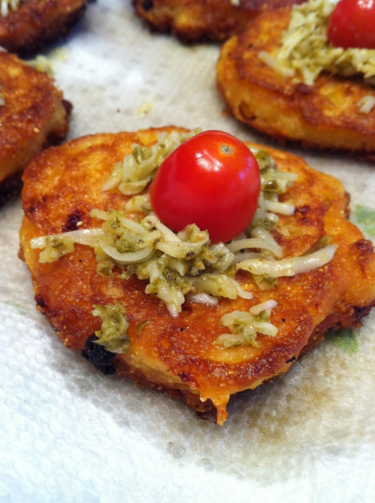 Crispy Corn Fritters w/Tomato Salad | Lunch Ideas | Pinterest