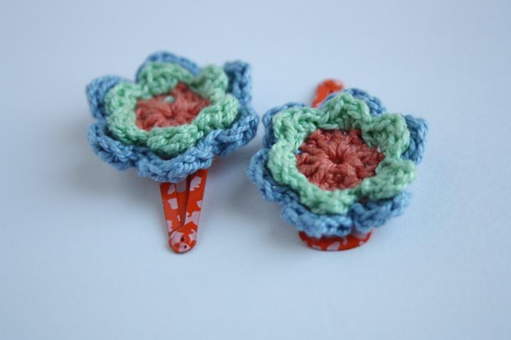 Crochet Hair Clips headbands Pinterest
