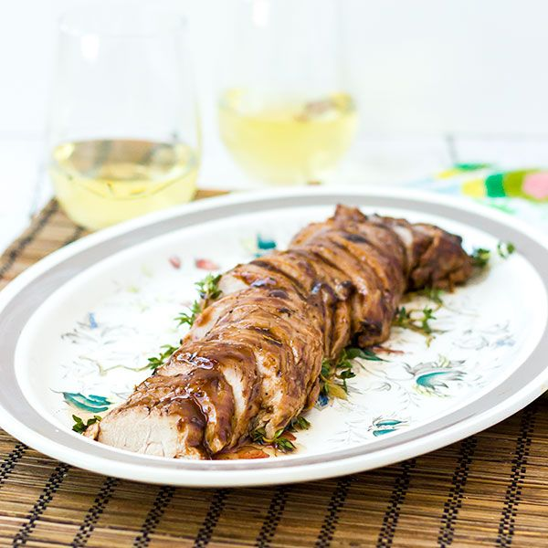 Pork Tenderloin with a sweet and tangy Apricot Balsamic Glaze