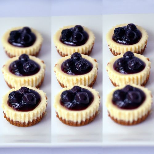 Blueberry cheese cake bites | Cakes, Cookies & Cupcakes | Pinterest