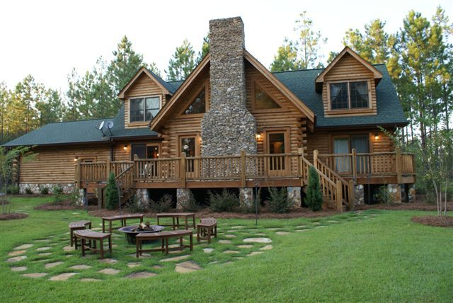log cabin home dream home pinterest. Black Bedroom Furniture Sets. Home Design Ideas