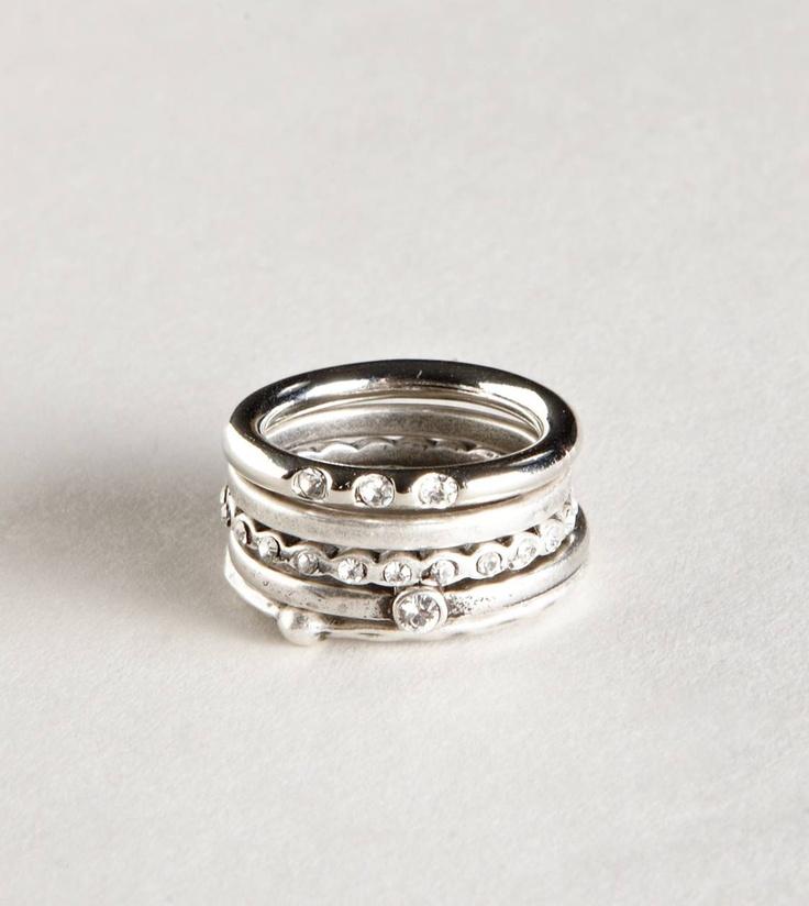 Stacked Rings Set Wedding Ring Redesign Pinterest