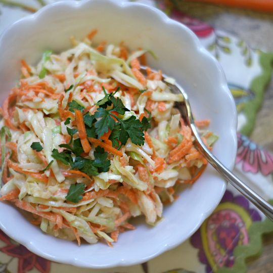 Creamy Coleslaw! (Dairy-free) Rather than using mayonnaise as a base ...