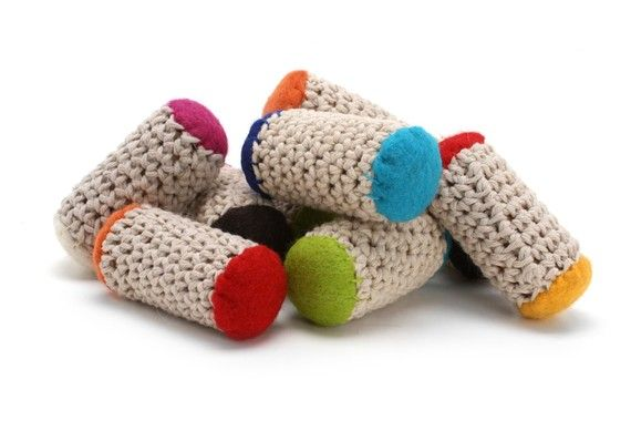 Bamboleos re purposed wine cork cat toys with organic for How to crochet cat toys
