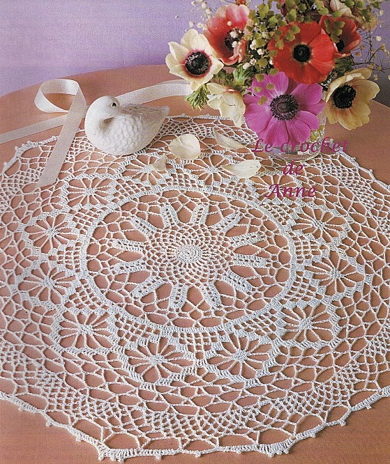 French Crochet Patterns : doily pattern from anns french blog Kva?kani prti?ki / Crocheted ...