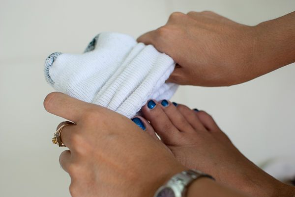 get rid of foot odor wikihow cleaning pinterest