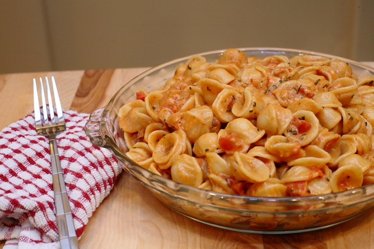 Orechiette Pasta with Spicy Rosemary Sauce