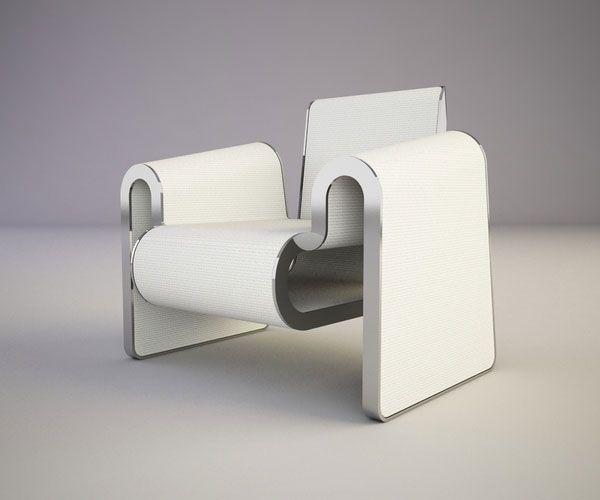 Minimalist M Chair by Svilen Gamolov