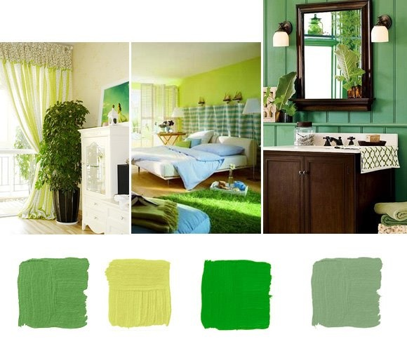color combination green for the home pinterest