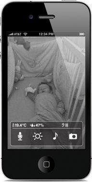 video monitor for baby that works with iPhone/iPad. Made by Wiithings people.