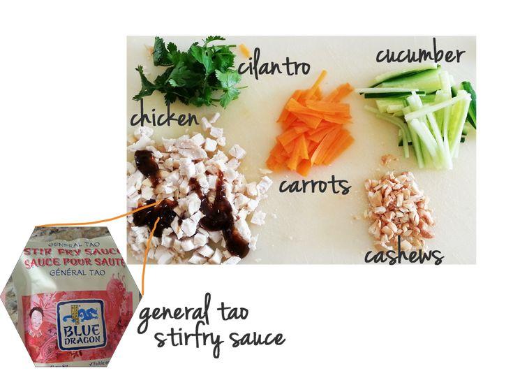 Cashew Chicken Salad Rolls | Recipe