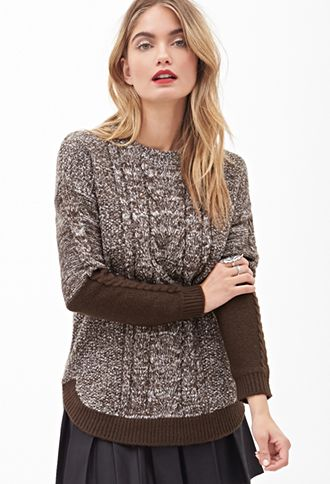Colorblocked Cable Knit Sweater | FOREVER21 - 2000058697
