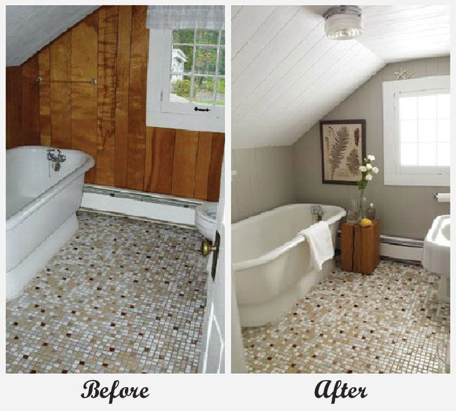 Room Makeover - Bathroom. For more great before and after room makeovers, check out http://decoratingfiles.com/2012/08/room-makeovers/#