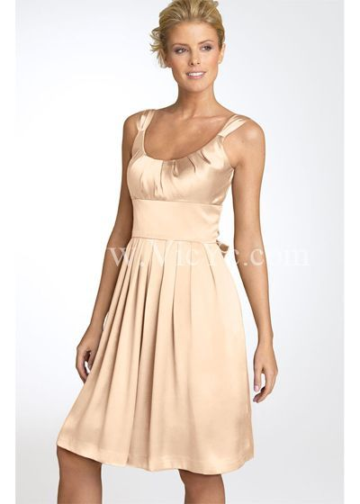 Love this champagne bridesmaid dress. $106
