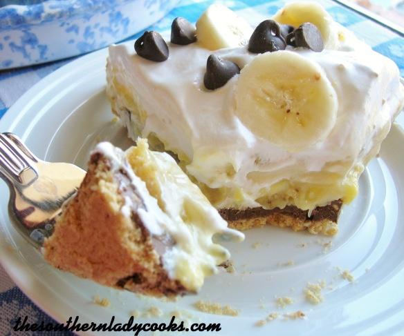 Peanut Butter Chocolate Banana Pie | Food | Pinterest