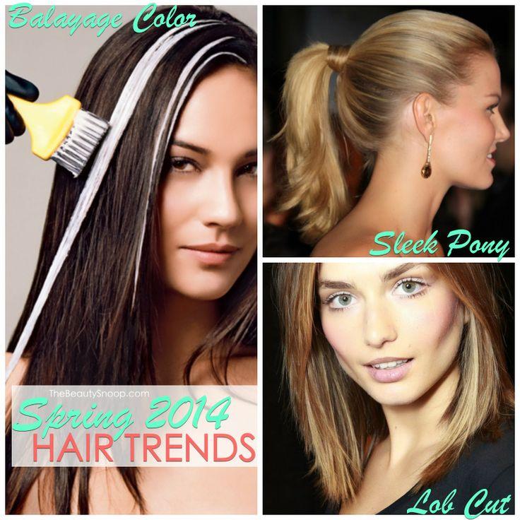 Spring 2014 hair trends the lob cut balayage highlights sleek