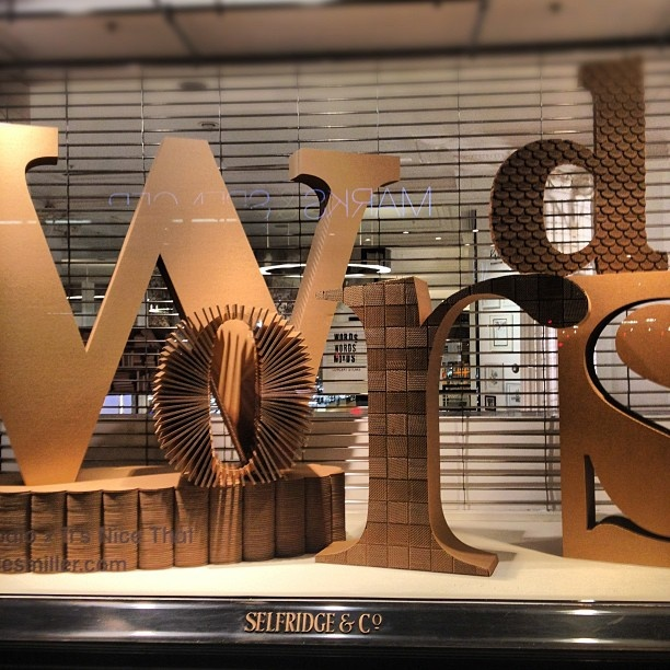 Words by Selfridges (originally taken by girlswear with Instagram) #typography