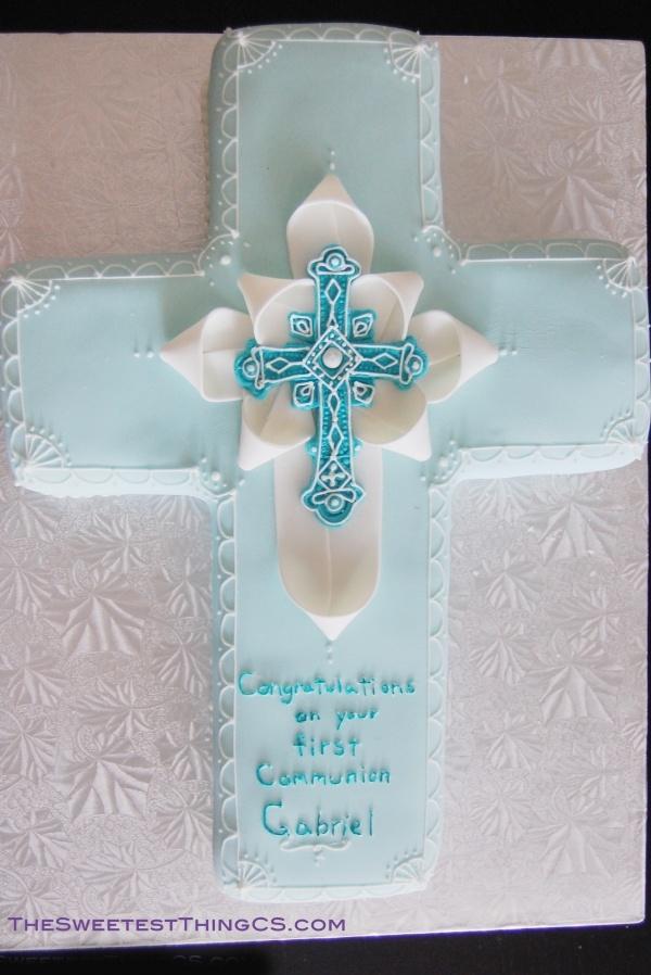 Pretty communion cake for a boy Christening Ideas ...