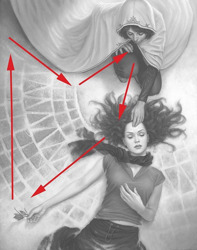Implied Lines In Art : Pin by grace le on art illustration pinterest