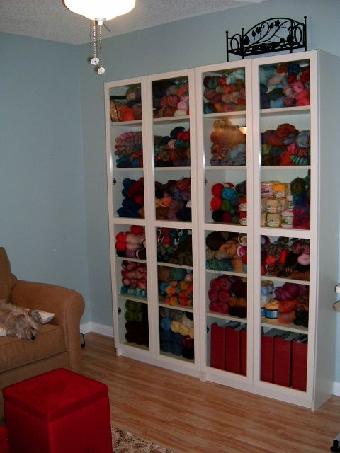 Love the shelves for yarn storage for the home pinterest