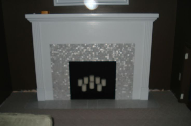 DIY Faux Fireplace Makeover Livingroom Pinterest
