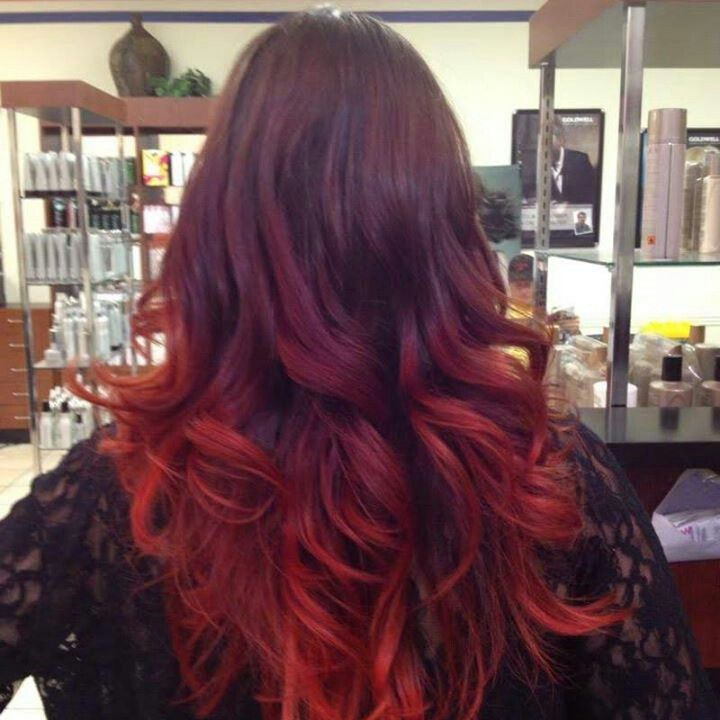 Beautiful red ombre hi...