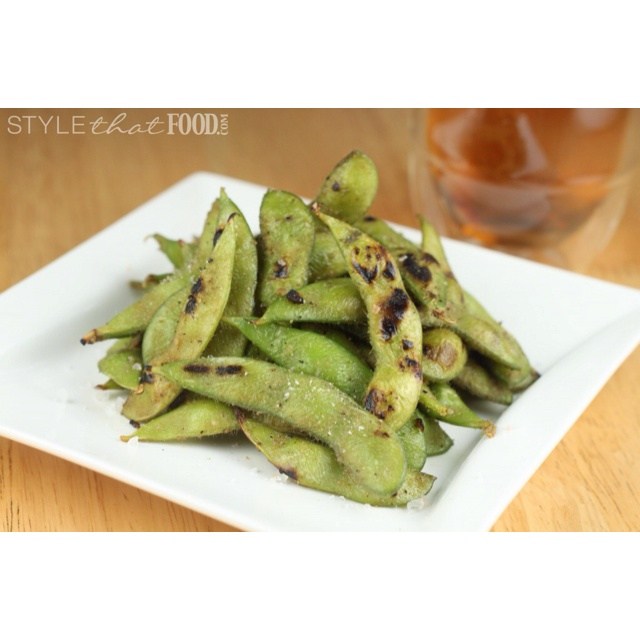 Grilled edamame. | Food obsession | Pinterest