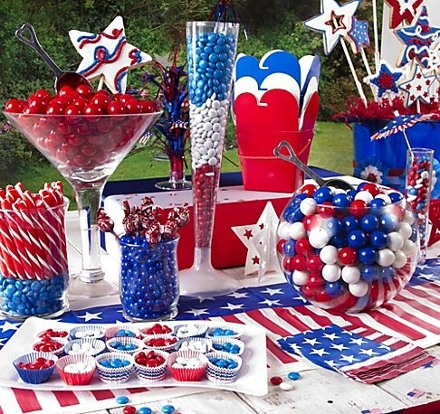 Red white blue party and shower ideas pinterest - Red white blue decorations ...