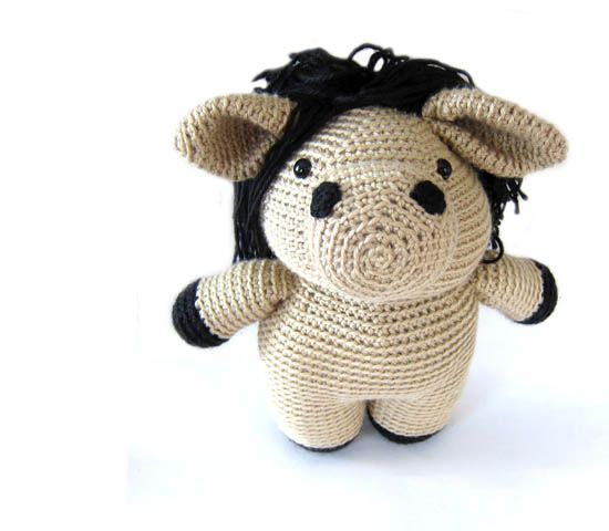 Crochet Unicorn Hair : amigurumi crochet horse Craft - Crochet Amigurumi Pinterest