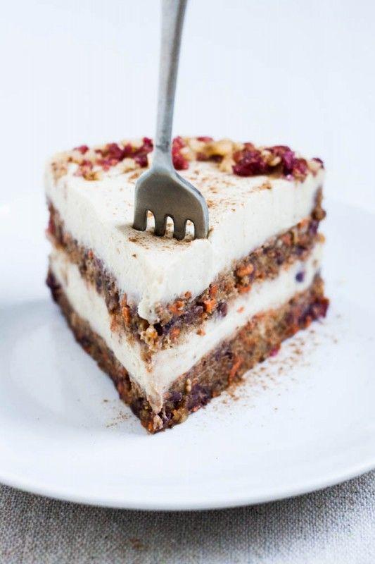 Raw Cranberry Orange Carrot Cake | .:sweet tooth:. | Pinterest
