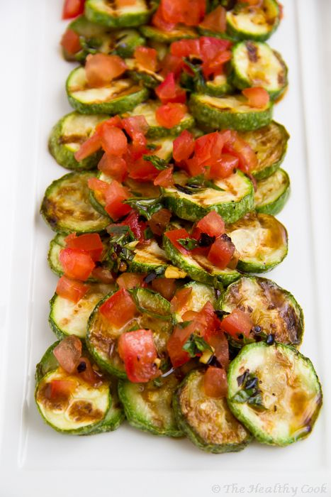 Crilled Zucchini Salad with Τomato and Mint – Σαλάτα με ...