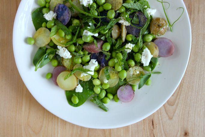 fresh pea, potato, and mint salad | Eat - Sides & Salads | Pinterest