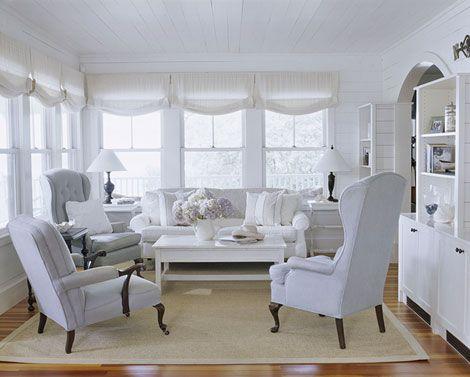 White & gray living room