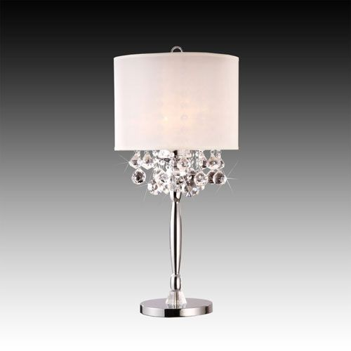 Fancy Crystal Drops Table Lamp Homehills Shaded Table Lamps Lamps