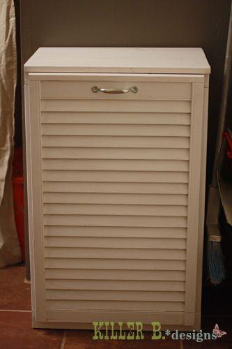 Knocked off tilt out trash cabinet for the condo - Diy tilt out hamper ...