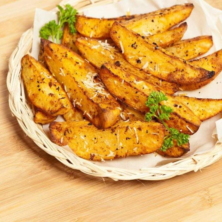 Roasted sweet potatoes with rosemary and parmesan