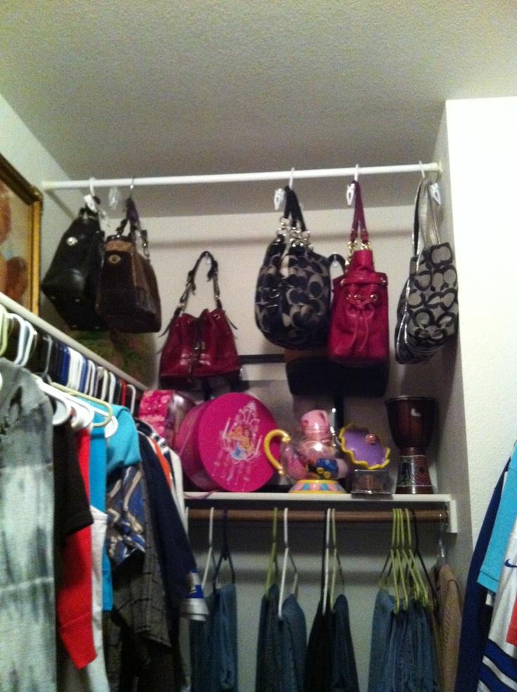 Purse organizer closets pinterest - Purse organizer for closet ...
