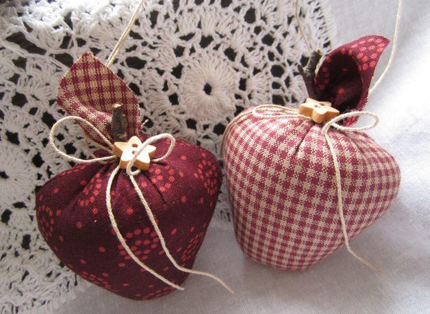 Weihnachtsbaumschmuck Äpfel-им Landhaus - Stil