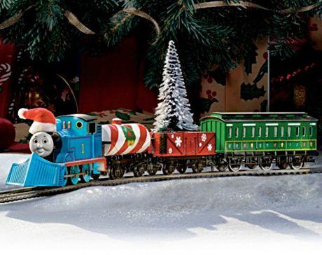 Thomas the train christmas train awesome under the christmas tree