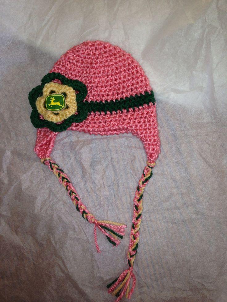 Deere Infant Hat Crochet Pattern : John Deere crochet baby hat Knitting & Crochet needle ...
