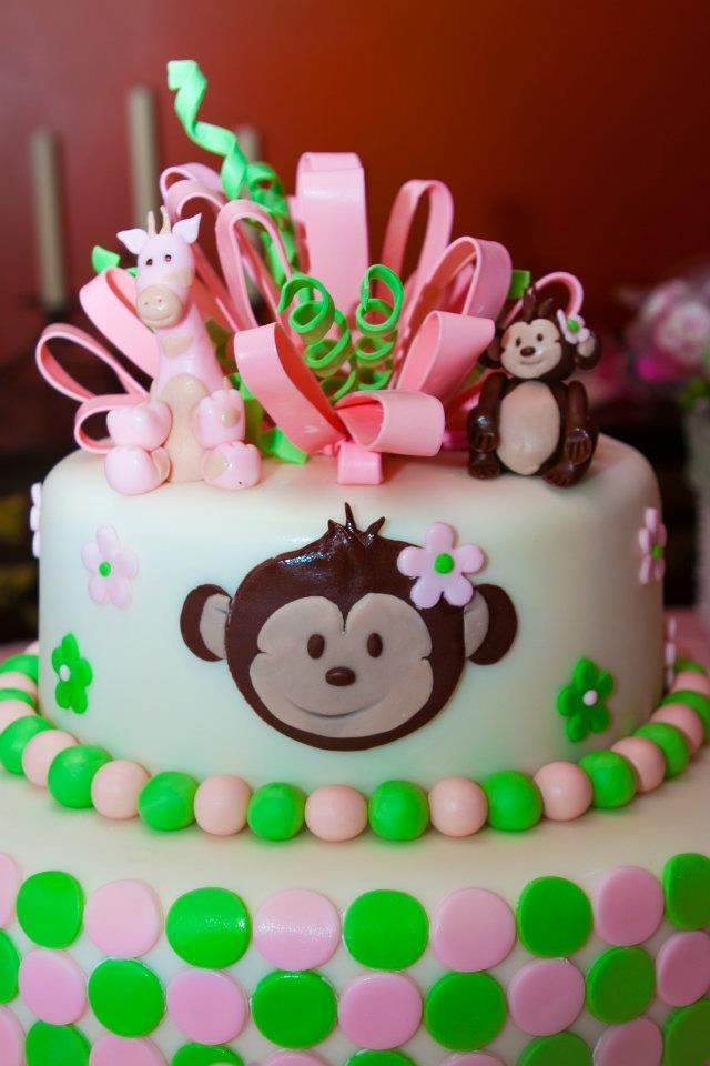 Baby shower cake for monkey theme cake ideas pinterest - Baby shower monkey theme cakes ...