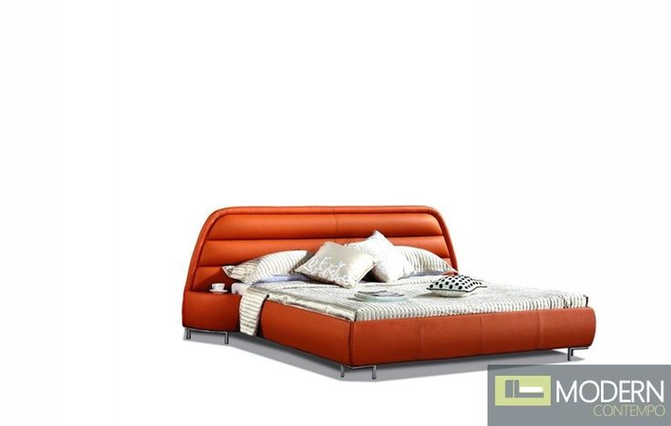 funky orange platform bed beds pinterest