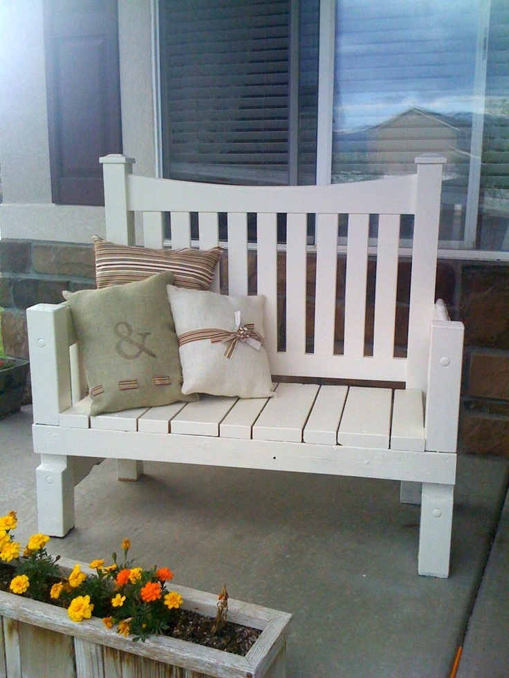 Cute Bench With Pillows A Beautiful Bench Pinterest