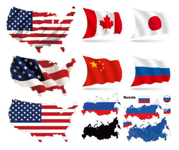 world flags eps