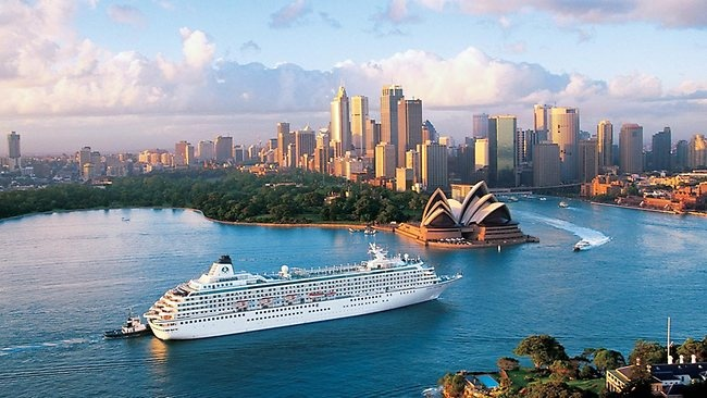 Crystal Cruise Ship In Sydney Harbour  Ports Of Call